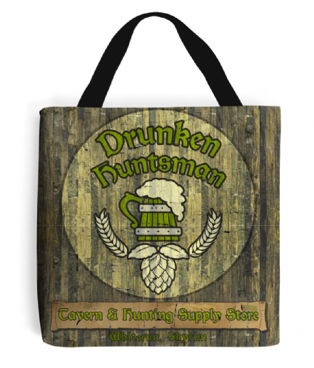 The Drunken Huntsman Tavern & Hunting Supply Store Shopping Tote Bag